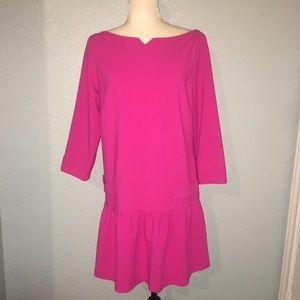 Victoria Beckham Fuchsia Pink Drop Waist Dress